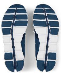 On Running Denim And White Cloud Running Shoe - Blue