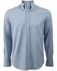 Brunello Cucinelli Button Down Shirt - Blue