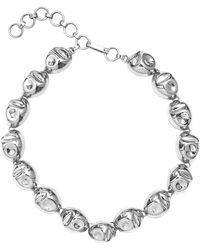 Monica Sordo Silver Puerto Single Necklace - Metallic