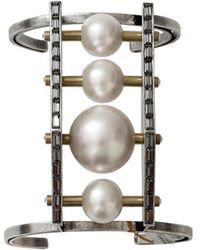 Lanvin Azov Four Pearl Cuff - Multicolour