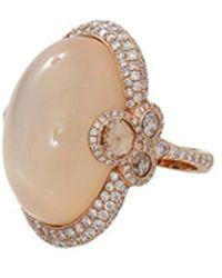 Inbar - Cabochon Moonstone Diamond Ring - Lyst