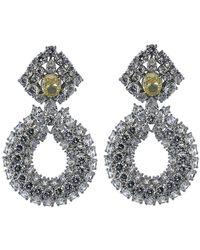Fantasia Jewelry | Three Row Drop Earrings | Lyst