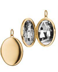 Monica Rich Kosann Engravable Locket Charm - Yellow Gold - Metallic