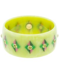Mark Davis Green And Pink Bakelite Bangle