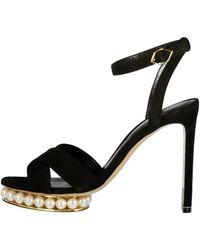 Nicholas Kirkwood Black Casati Pearl Platform Sandal