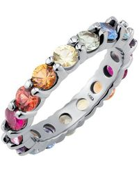 Carbon & Hyde Rainbow Eternity Band - White Gold - Multicolour