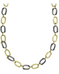 Sylva & Cie | Gold And Silver Link Necklace | Lyst