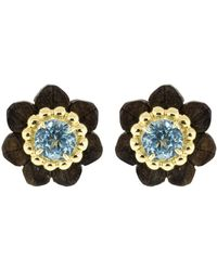 Silvia Furmanovich - Sculptural Botanical Marquetry Flower Stud Earrings - Lyst