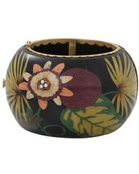 Silvia Furmanovich Marquetry Flower Bracelet - Multicolour