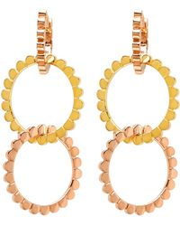 Nancy Newberg - Three Mix Gold Hoop Earrings - Lyst
