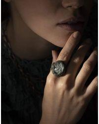 Sevan Biçakci Carved Moonstone Calla Lily Ring - Multicolour