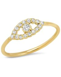 Jennifer Meyer Mini Diamond Open Evil Eye Ring - Metallic