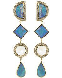 Katherine Jetter - Opal Four Drop Earrings - Lyst