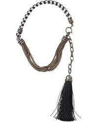 Lanvin Vita Short Tassle Necklace - Black