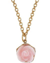 Irene Neuwirth - Pink Opal Flower Pendant - Lyst