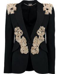 Alexander McQueen Beaded Cocktail Blazer - Black