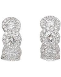 Inbar | Diamond Huggie Earrings | Lyst