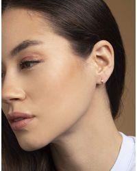 Maria Tash White Gold 6.5mm Scalloped Diamond Clicker - Multicolour