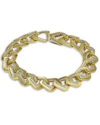 Kavant & Sharart Origami Brushed Link No.5 Diamond Bracelet - Metallic
