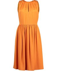 Giambattista Valli Keyhole Neck Dress - Orange