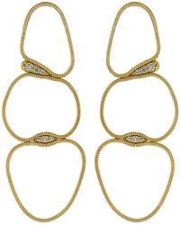 Fernando Jorge Medium White Diamond Fluid Chain Earrings