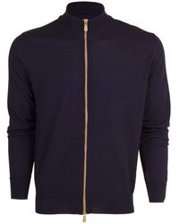 Eleventy Full Zip Jacket - Blue