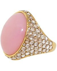 Irene Neuwirth - Pink Opal And Diamond Ring - Lyst