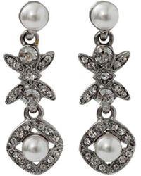 Oscar de la Renta | Lattice Pearl Drop Earrings | Lyst
