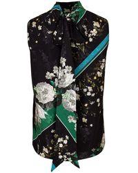 Erdem Koren Tie-neck Blouse - Multicolour