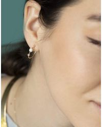Wwake Small Two Step Opal Hoops - Multicolour