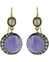 Sylva & Cie - Tanzanite Moon Earrings - Lyst