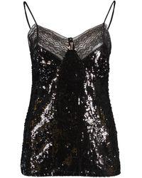 Michael Kors Lace Trim Camisole - Black