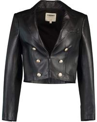 L'Agence Black Inez Crop Blazer