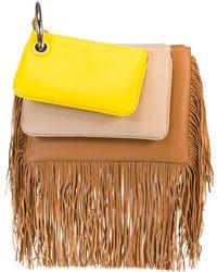 Fendi Triplette Fringe Handbag - Multicolour