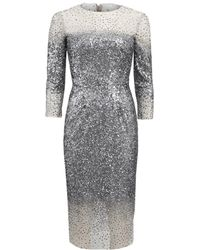 Monique Lhuillier - Illusion Dress - Lyst