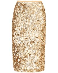 Michael Kors Embroidered Pencil Skirt - Multicolor