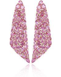 Sutra Pink Sapphire Drape Earrings