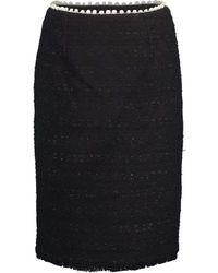 Giambattista Valli Slim Tweed Skirt - Black