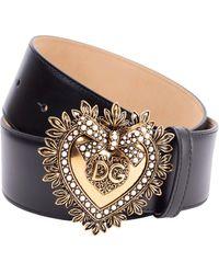 Dolce & Gabbana Devotion Belt - Black