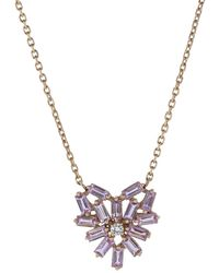 Suzanne Kalan Small Pink Sapphire Heart Necklace - Multicolour