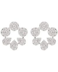 Dana Rebecca Taylor Beth Diamond Cutout Studs - Multicolour