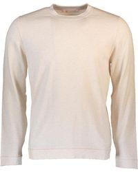 Brunello Cucinelli - Contrast Stitch Sweater - Lyst