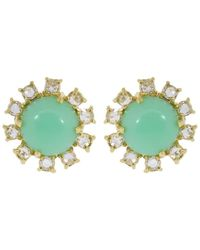 Irene Neuwirth - Mint Chrysoprase And Diamond Stud Earrings - Lyst