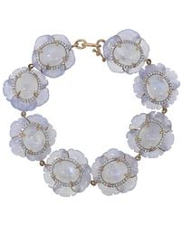 Irene Neuwirth Carved Chalcedony Flower Bracelet - Multicolour