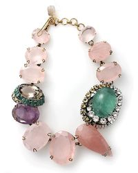 Iradj Moini Double Station Quartz Choker - Multicolor