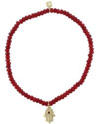 Sydney Evan Hamsa Red Bracelet