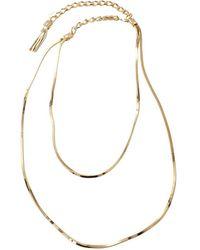 Lanvin - Art Deco Long Necklace - Lyst