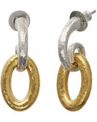 Gurhan Hoopla Silver Drop Earrings - Metallic