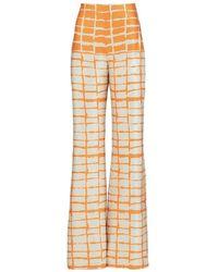 Silvia Tcherassi Orange Como Pant
