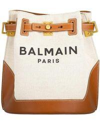 Balmain Belted Bucket Logo Backpack - Multicolour